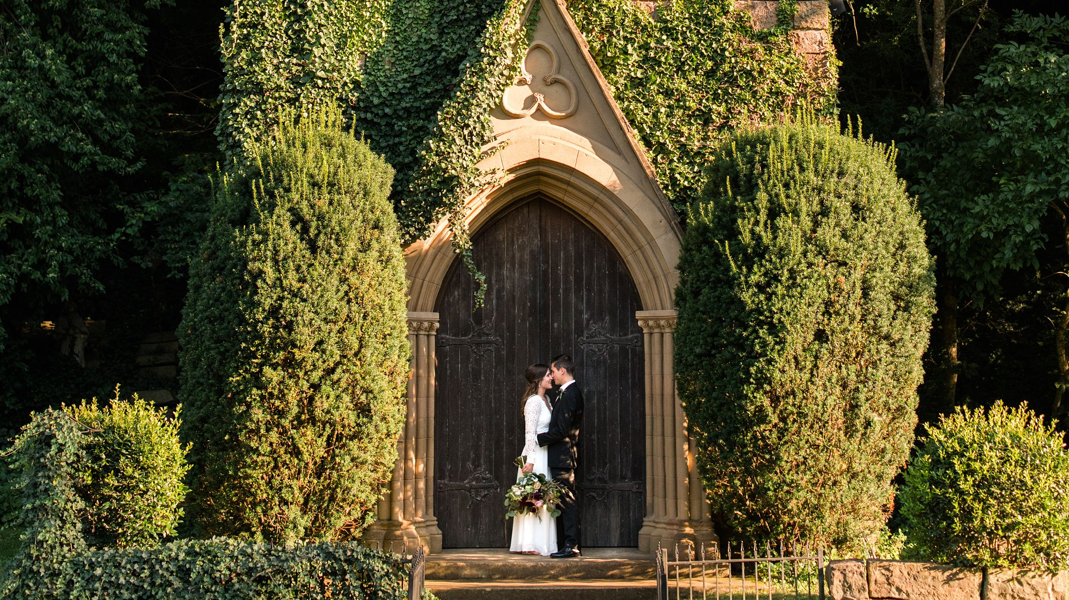 David + Kayla Wedding at St. Catherine's at Bell Gable in Fayetteville, AR